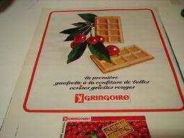 ANCIENNE PUBLICITE GAUFRETTE CERICE GRINGOIRE 1968 - Affiches