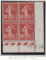 France Coin Daté Du Numéro  360 Sans Charniére **  Luxe De 1937 - Angoli Datati