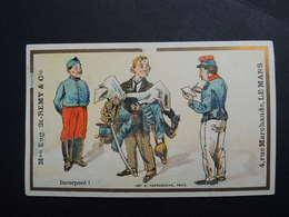Chromo FARRADESCHE. Pub. Eugène Saint Remy.  Confection. LE  MANS. Incorporé. Militaria. Soldats. - Unclassified