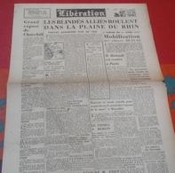 WW2 Journal Libération 28 Février 1945 Trèves Blindés Plaine Rhin Mobilisation Classes 40 41 42 Churchill Pierre Cot - Altri