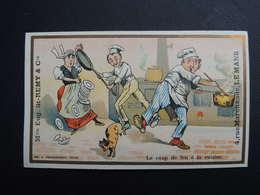 Chromo FARRADESCHE. Pub. Eugène Saint Remy.  Confection. LE  MANS.  Le Coup De Feu à La Cuisine. Cuisinier. Sauce. - Unclassified