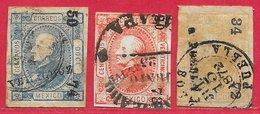 Mexique N°50 à 52 (15 JUL 1872 PUEBLA) 1872 O - Mexico