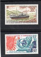 Nouvelle Calédonie:PA Aérienne Année 1973: Lot De Deux Valeurs N°140**et N°141**(journée De La Météorologie..) - Airmail