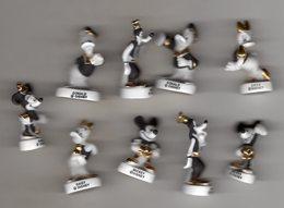 Série 9/10 Fèves Mâtes Filets OR - MICKEY RETRO 2005 - Disney