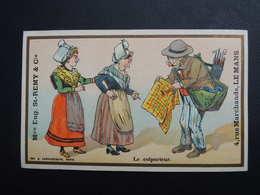 Chromo FARRADESCHE. Pub. Eugène Saint Remy.  Confection. LE  MANS.  Le  Colporteur. Femmes En Coiffe. Marchand De Cannes - Unclassified