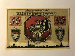 Allemagne Notgeld Mainbernheim 50 Pfennig - [ 3] 1918-1933 : Weimar Republic