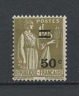 FRANCE 1934 N° 298 ** Neuf MNH Superbe C 8 € Type Paix Surchargé - France