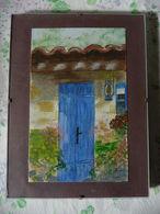 AQUARELLE Sous Verre , Format 12 X 20 Signée Z.Annie - Watercolours