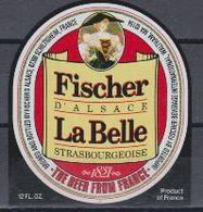Etiquette (label) De Biere ( Beer, Cerveza, Birra, Bier) De La Brasserie Française FISCHER EXPORT - Bière