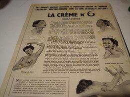 ANCIENNE PUBLICITE CREME 6 DE THO RADIA 1951 - Other