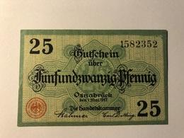 Allemagne Notgeld Osnabruck 25 Pfennig - [ 3] 1918-1933 : Weimar Republic