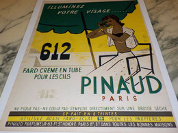 ANCIENNE PUBLICITE CREME 612T DE PINAUD 1951 - Publicités