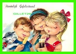 ENFANTS - HARTELIJK GEFELICITEERD - CONSTAN 2A - TRAVEL IN 1966 - - Groupes D'enfants & Familles