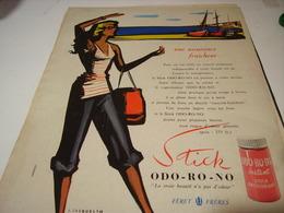 ANCIENNE AFFICHE PUBLICITE DESODORISANT ODO RO NO   1956 - Other