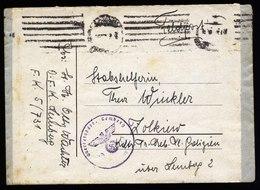 A5699) DR Feldpost Brief V. OFK Lemberg N. Zolkiew Stummer Maschinenstempel - Briefe U. Dokumente