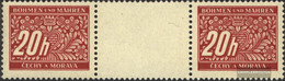 Bohemia And Moravia P3 Between Steg Couple Unmounted Mint / Never Hinged 1943 Postage Stamps - Bohemia & Moravia