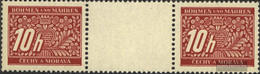 Bohemia And Moravia P2 Between Steg Couple Unmounted Mint / Never Hinged 1943 Postage Stamps - Bohemia & Moravia