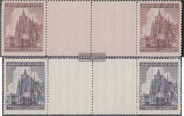 Bohemia And Moravia 140ZW-141ZW Between Steg Couples (complete Issue) Unmounted Mint / Never Hinged 1944 Vitus-Dom - Bohemia & Moravia