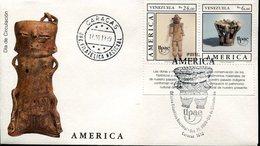 40006 Venezuela, Fdc 1989 Upae America,  Archeology,  Prehispanic Ceramic - Archaeology
