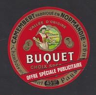 Etiquette De Fromage Camembert  -  Offre Spéciale Publicitaire  -  Buquet  à  Chambois  (61) - Fromage