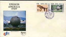 40007 Costa Rica, Fdc  Upae America, Archeology 1989 - Archaeology