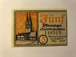 Allemagne Notgeld Passenschein 5 Pfennig - [ 3] 1918-1933 : Weimar Republic
