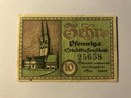 Allemagne Notgeld Passenschein 10 Pfennig - [ 3] 1918-1933 : Weimar Republic