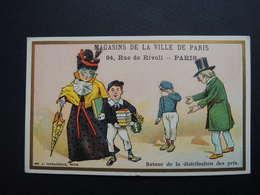Chromo FARRADESCHE. Pub. Magasins De La Ville De Paris.94  Rue De Rivoli. Retour De La Distribution Des Prix. Ecole - Unclassified