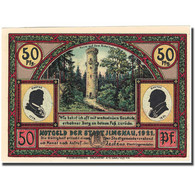 Billet, Allemagne, Ilmenau, 50 Pfennig, Montagne, 1921, SPL, Mehl:643.4 - Germany
