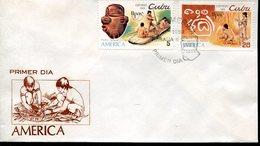 40009 Cuba, Fdc  Upae America, Archeology  Petroglif - Archaeology