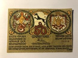 Allemagne Notgeld Schultheiss 50 Pfennig - [ 3] 1918-1933 : Weimar Republic