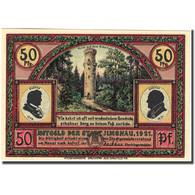 Billet, Allemagne, Ilmenau, 50 Pfennig, Monument, 1921, SPL, Mehl:643.4 - Germany