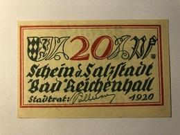Allemagne Notgeld Reichenhall 20 Pfennig - [ 3] 1918-1933 : Weimar Republic