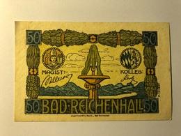 Allemagne Notgeld Reichenhall 50 Pfennig - [ 3] 1918-1933 : Weimar Republic