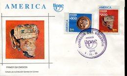 40012 Ecuador  Fdc  Upae America, Archeology 1990 - Archaeology