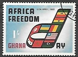 1960 Africa Freedom Day, 1sh, Used - Ghana (1957-...)