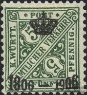 Württemberg D219 Favor Devaluation Fine Used / Cancelled 1906 Numbers In Signs - Wurttemberg