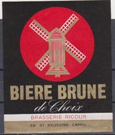Etiquette (label) De Biere ( Beer, Cerveza, Birra, Bier) De La Brasserie Française DE SAINT SYLVESTRE 59 - Bier