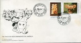 40014 Brasil  Fdc  Upae America, Archeology 1989  America Discovery 500 Year - Archaeology