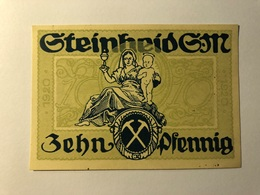Allemagne Notgeld Steinheid 10 Pfennig - [ 3] 1918-1933 : Weimar Republic