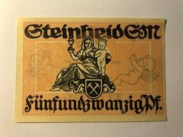 Allemagne Notgeld Steinheid 25 Pfennig - [ 3] 1918-1933 : Weimar Republic