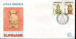 40015 Suriname  Fdc  Upae America, Archeology 1989 - Archaeology