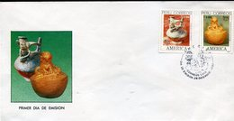 40016 Peru Fdc  Upae America, Archeology 1989 Precolombian Ceramic And Vase - Archaeology