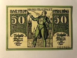 Allemagne Notgeld Straubing 50 Pfennig - [ 3] 1918-1933 : Weimar Republic