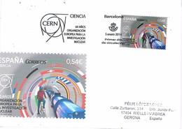 30488. Tarjeta F.D.C., BARCELONA 2014. Ciencia CERN, Investigacion Nuclear - 1931-Hoy: 2ª República - ... Juan Carlos I