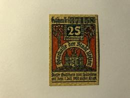 Allemagne Notgeld Uelzen 25 Pfennig - [ 3] 1918-1933 : Weimar Republic