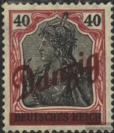 Danzig 38b Mit Falz 1920 Germania-Aufdruck - Dantzig