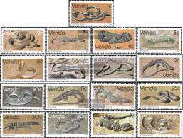 South Africa - Venda 120-136 (complete Issue) Unmounted Mint / Never Hinged 1986 Clear Brands: Reptiles - Venda