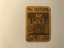 Allemagne Notgeld Uelzen 50 Pfennig - [ 3] 1918-1933 : Weimar Republic