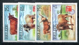 Belize            1075/1078  **   Bovins - Belize (1973-...)